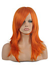 Syntetiska peruker Kostymperuker Rak Rak Peruk Mellan Orange Syntetiskt hår Dam Röd