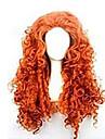 Cosplay Peruker Syntetiska peruker Lockigt Kinky Curly Löst vågigt Sexigt Lockigt Lockigt Asymmetrisk frisyr Peruk Lång Röd Syntetiskt hår 25 tum Dam Naturlig hårlinje Röd