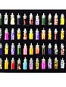 48 pcs Vackert Akrylfiber Glitter Nail Art Kit Nagelsmycken Till finger nagel konst manikyr Pedikyr Blomma / Tecknat / Punk / Nail Smycken