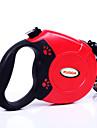 Katt Hund Koppel Justerbara / Infällbar Automatisk Enfärgad Plast Grå Röd Blå