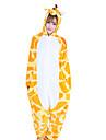 Vuxna Kigurumi-pyjamas Giraff Djurmönstrad Onesie-pyjamas Korallfleece Orange Cosplay För Herr och Dam Pyjamas med djur Tecknad serie Festival / högtid Kostymer