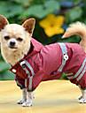 Hund Regnjacka Hundkläder Gul Grön Röd Kostym Spädbarn Liten hund Bulldogg Shiba Inu Mops Akrylik Fiber Enfärgad Vattentät Vindtät XS S M L XL XXL