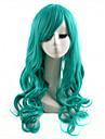 Cosplay Peruker Syntetiska peruker Vågigt Vågigt Peruk Lång Grön Syntetiskt hår Dam Grön
