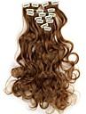 Människohår förlängningar Vågigt Klassisk Syntetiskt hår Hårförlängningar av äkta hår Dam X5