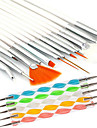 20pcs Trä / Plast / Nylon Nail Art Files & Buffers Nail Art Tool Till Fingernageö Tånagel Akryl Borste Moderiktig design / Låg vikt styrka och hållbarhet nagel konst manikyr Pedikyr Chic och modern