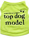 Katt Hund T-shirt Hundkläder Grön Blå Rosa Kostym Terylen Blommig Botanisk Mode XS S M L