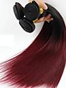 1 Bundle Brasilianskt hår Rak Klassisk Obehandlad hår Nyans 16-24 tum Nyans Hårförlängning av äkta hår Människohår förlängningar / 10A