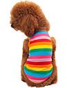 Katt Hund T-shirt Hundkläder Regnbåge Kostym Cotton Rand Mode XS S M L XL