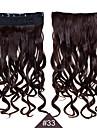 Syntetiskt hår HÅRFÖRLÄNGNING Vågigt Klämma in Dagligen Hög kvalitet