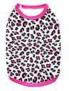 Katt Hund T-shirt Hundkläder Andningsfunktion Svart Svart / Gul Ros Kostym Cotton Leopard Mode XS S M L
