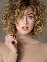 Syntetiska peruker Lockigt Lockigt Sidodel Peruk Blond Korta Blond Syntetiskt hår Dam Mode Blond StrongBeauty