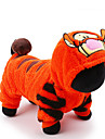 Katt Hund Dräkter / Kostymer Jumpsuits Tiger Vinter Hundkläder Orange Kostym Husky Labrador alaskan malamute Plysch Tecknat Cosplay Semester XXS XS S M L
