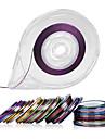 30colors striping tejp linje nagel dekoration klistermärken - fri tejp rull dispenser