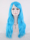 Syntetiska peruker Vågigt Vågigt Peruk Lång Blå Syntetiskt hår Dam Blå