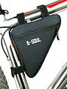 B-SOUL Väska till cykelramen Triangle Frame Bag Fuktighetsskyddad Bärbar Stötsäker Cykelväska Polyester pvc Terylen Cykelväska Pyöräilylaukku Cykling / Cykel / Vattentät Dragkedja