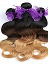 Malaysiskt hår Kroppsvågor Hårförlängning av äkta hår 3 delar 0.3