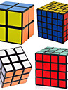 4 st Magic Cube IQ-kub Shengshou 2*2*2 3*3*3 4*4*4 5*5*5 Mjuk hastighetskub Magiska kuber Stresslindrande leksaker Pusselkub professionell nivå Hastighet Professionell Klassisk & Tidlös Barn Vuxna