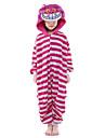 Barn Kigurumi-pyjamas Katt Djurmönstrad Onesie-pyjamas Sammet Mink Rosa Cosplay För Pojkar och flickor Pyjamas med djur Tecknad serie Festival / högtid Kostymer