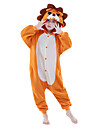 Barn Kigurumi-pyjamas Lejon Djurmönstrad Onesie-pyjamas Polär Ull Orange Cosplay För Pojkar och flickor Pyjamas med djur Tecknad serie Festival / högtid Kostymer