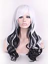 Syntetiska peruker / Kostymperuker Kroppsvågor Kardashian Stil Utan lock Peruk Svart Svart Syntetiskt hår Dam Svart Peruk