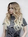 Syntetiska peruker Vågigt Middle Part Peruk Blond Lång Blond Syntetiskt hår Dam Värmetåligt Ombre-hår Blond