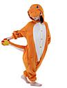 Barn Kigurumi-pyjamas drake Djurmönstrad Onesie-pyjamas Sammet Mink Orange Cosplay För Pojkar och flickor Pyjamas med djur Tecknad serie Festival / högtid Kostymer
