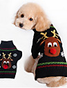 Hund Tröjor Vinter Hundkläder Svart Röd Kostym Cotton Håller värmen XXS XS S M L XL