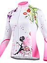 TVSSS Dam Långärmad Cykeltröja Lappverk Brittisk Blommig Botanisk Cykel Överdelar Andningsfunktion sporter Vinter Coolmax® Terylen Lycra Kläder / Hög Elasisitet