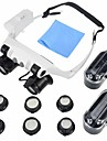 Double Eye LED Lighted Watch Repair Magnifying Loupe Jeweler Glasses Magnifier 10x 15x 20x 25x (Upgraded Version)