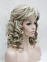 Syntetiska peruker Lockigt Lockigt Med lugg Peruk Blond Mellan Blond Syntetiskt hår Dam Blond Hivision