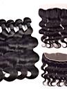 Brasilianskt hår Kroppsvågor Äkta hår Hår Inslag med Stängning Hårförlängning av äkta hår Människohår förlängningar