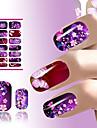 1 pcs Vattenöverföringsklistermärke nagel konst manikyr Pedikyr Blomma / Mode Dagligen