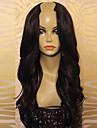 Äkta hår Obehandlat Mänsligt hår U-formad hätta Peruk stil Brasilianskt hår Vågigt Peruk med babyhår Naturlig hårlinje Afro-amerikansk peruk 100 % handbundet Dam Lång Äkta peruker med hätta