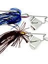 1 pcs Fiskbete Spinnfluga Metallbete Sjunker Bass Forell Gädda Kastfiske Drag-fiske Trolling & Båt Fiske Metall