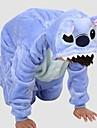 Barn Kigurumi-pyjamas Blått Monster Onesie-pyjamas Polär Ull Blå Cosplay För Pojkar och flickor Pyjamas med djur Tecknad serie Festival / högtid Kostymer