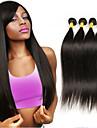 4 paket Brasilianskt hår Rak Klassisk Obehandlad hår Human Hår vävar 8-26 tum Hårförlängning av äkta hår Människohår förlängningar / 10A
