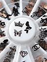 1 pcs Nagelsmycken 3D nagel konst manikyr Pedikyr Enkel / Metallfinish / Nail Smycken / Legering
