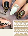 1 pcs 3D Nagelstickers nagel konst manikyr Pedikyr Mode Dagligen / 3D Nail Stickers