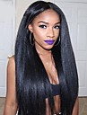 Äkta hår Helnät utan lim Spetsfront Peruk Rihanna stil Brasilianskt hår Kinky Rakt Brun Natur Svart Peruk 130% 150% 180% Hårtäthet 8-22 tum med babyhår Naturlig hårlinje Afro-amerikansk peruk 100