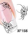 1pcs Vattenöverföringsklistermärke nagel konst manikyr Pedikyr Blomma / Mode Dagligen