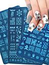 1 pcs Stämpelplatta Mall Moderiktig design nagel konst manikyr Pedikyr Stilig / Mode Dagligen / Rostfritt stål / stämpling Plate