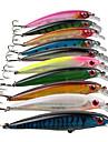 10 pcs Simbete Spigg Fiskbete Hårt bete Spigg Sjunker Bass Forell Gädda Kastfiske Spinnfiske Jiggfiske Hårt Plast Metall / Abborr-fiske / Trolling & Båt Fiske