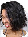 Äkta hår Hel-spets Peruk Bob-frisyr stil Brasilianskt hår Vattenvågor Peruk med babyhår Naturlig hårlinje Afro-amerikansk peruk 100 % handbundet Dam Korta Mellan Äkta peruker med hätta