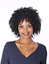 Äkta hår Hel-spets Peruk Bob-frisyr stil Brasilianskt hår Kinky Curly Peruk med babyhår Naturlig hårlinje Afro-amerikansk peruk 100 % handbundet Dam Korta Mellan Äkta peruker med hätta