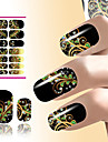 1 pcs Vattenöverföringsklistermärke nagel konst manikyr Pedikyr Mode Dagligen