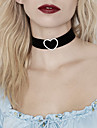 Women\'s Choker Necklace Statement Necklace Heart Love Statement Ladies Luxury Tattoo Style Imitation Diamond Alloy Black Necklace Jewelry For Wedding Party Daily Casual / Tattoo Choker Necklace
