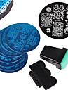 12 pcs Stämpelplatta Mall Moderiktig design nagel konst manikyr Pedikyr Stilig / Mode Dagligen / stämpling Plate / Metall
