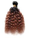 1 Bundle Indiskt hår Stora vågor Äkta hår Nyans Nyans Hårförlängning av äkta hår Människohår förlängningar / 8A