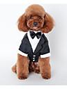 Hund Dräkter / Kostymer Kappor Outfits Vinter Hundkläder Svart Kostym Husky Labrador alaskan malamute Cotton Brittisk Bröllop S M L XL XXL