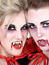 Skämtpryl Vampyrtänder Skräcktema Tand Party Originella Kiselgel Plast Barn Vuxna Pojkar Flickor Leksaker Present 2 pcs